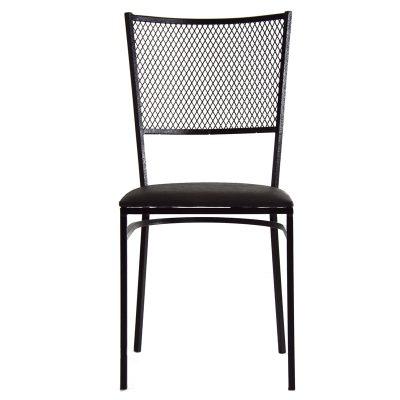 Cadeiras de ferro com tela expandida