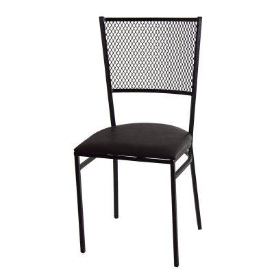 Cadeiras de ferro com tela expandida 1